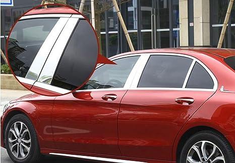 Estilo de coches – 17 Pulido Aluminio B C ventana Pilar Post Trim Kit de coche