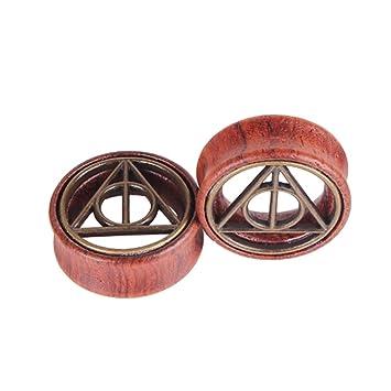 FENICAL Expansores de Túnel Plugs de Madera Pendientes Dilatadores de Oreja Piercing Joyas Expansores Oreja 20mm 2 Piezas: Amazon.es: Hogar