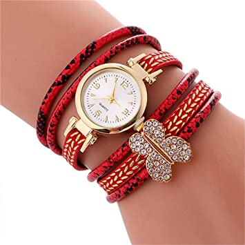Ladies Bracelet Diamond Butterfly Circle Watch Student Fashion Table Top Round Case Watch Femme Hot Sale