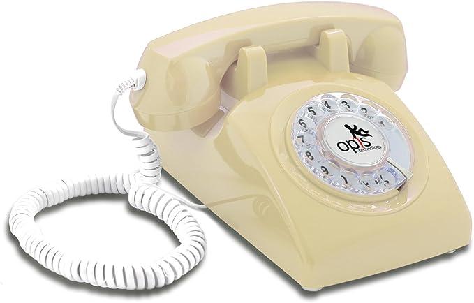 Opis 60s Cable Mit Opis Logo Retro Telefon Im Elektronik