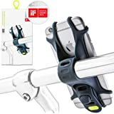 Universal Bike Phone Mount, Bicycle Handlebar Stroller Holder for 4 to 6 Inch Smartphones, iPhone 8 Plus 7 6 5 SE, Samsung Galaxy S8 S7 Note 6, BIKE TIE SERIES - Dark Blue