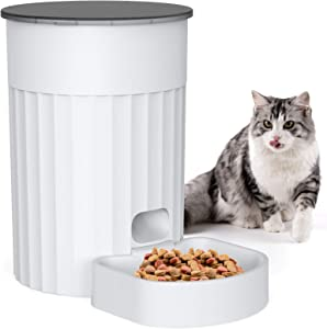 DADYPET Automatic Cat Feeder 3L Programmable Timer Memory Setting Pet Feeder Portion Control Dog Food Dispenser Automatic 1-4 Meals per Day for Small & Medium Pets (Plug or Battery Powered)