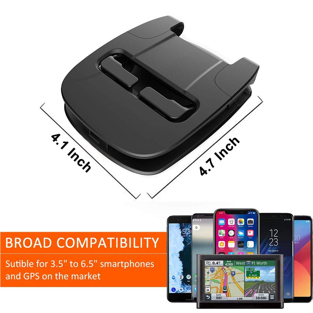 Winique Car Phone Mount No Glue Silicone Dashboard Car Pad Compatible with iPhone X//8 Plus//7 Plus//6S Samsung Galaxy S8 Plus//Note 8//S7 3.5-7 Inches Smartphone or GPS Device 2018 Car Phone Holder