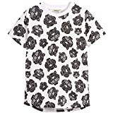 Kenzo Kids White and Black All‑Over Tiger Print T‑Shirt (16A)