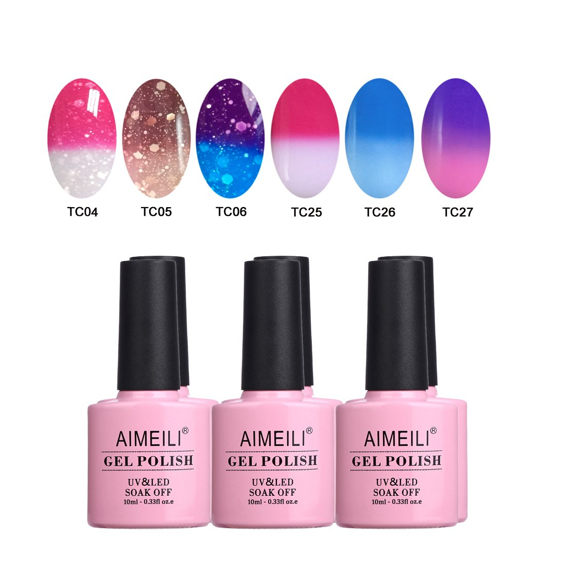 AIMEILI Soak Off UV LED Nude Pastel Vernis à Ongles Gel Semi-Permanent Lot Color Mix/Multi-Colored Kit Set Ensemble de Couleurs 6 X 10ml - Set 22