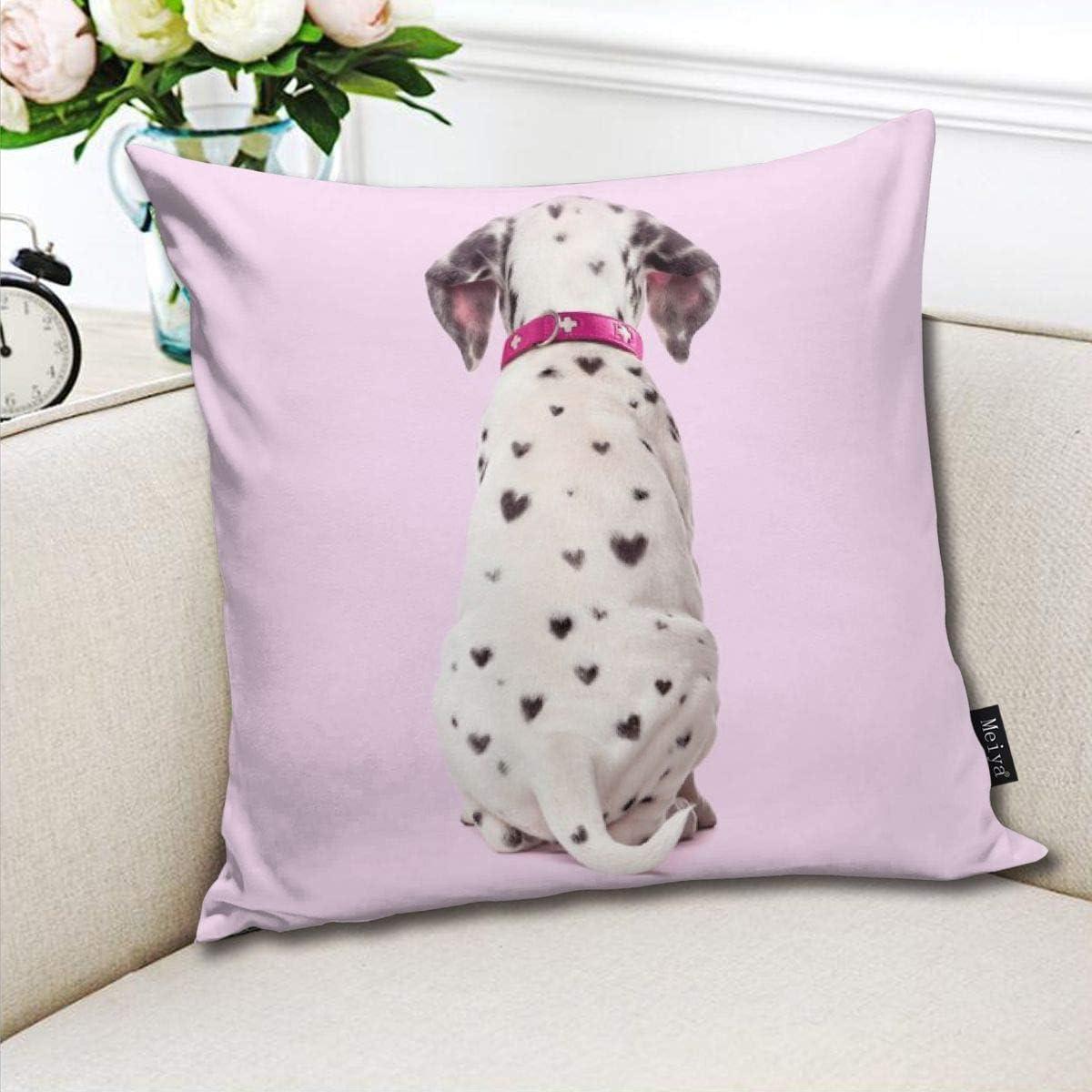 Dalmatian Pillowcase Home Life Cotton Cushion Case 18 x 18 inches