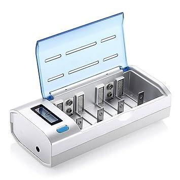 L&HM Universal Cargador de Pila Batería con Pantalla LCD y ...