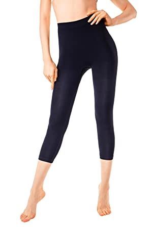 c1e1bf1f84 MD Women s Layering Legging Tight Tummy Hips and Thigh Light Control Shaper  Blacks