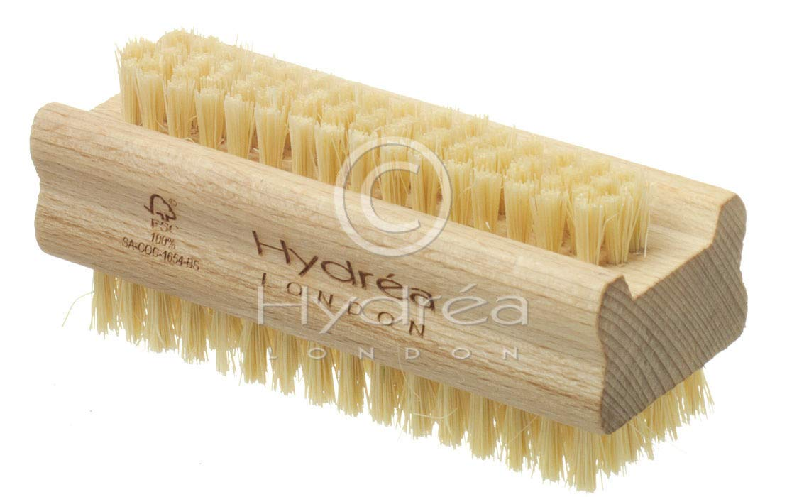Wooden Nail Brush Strong Cactus Bristles Hydrea London WHS1S