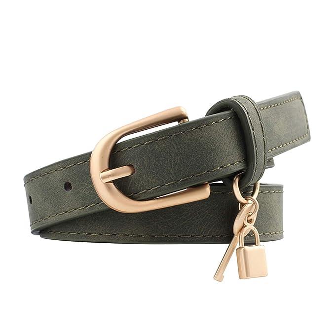 Smilesi Nuevo Metal dorado Cinturón en forma de D Cinturones ...