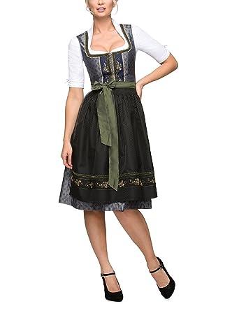a8d06031a1e4b1 Stockerpoint Damen Isabelle Dirndl,, per pack Mehrfarbig (schiefer-midnight  schiefer-midnight