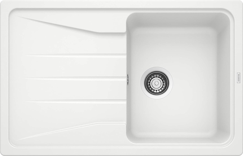 Gris anthracite marron Blanco Sona 6/S Silgranit PuraDur /Évier de cuisine encastrable et r/éversible 519678