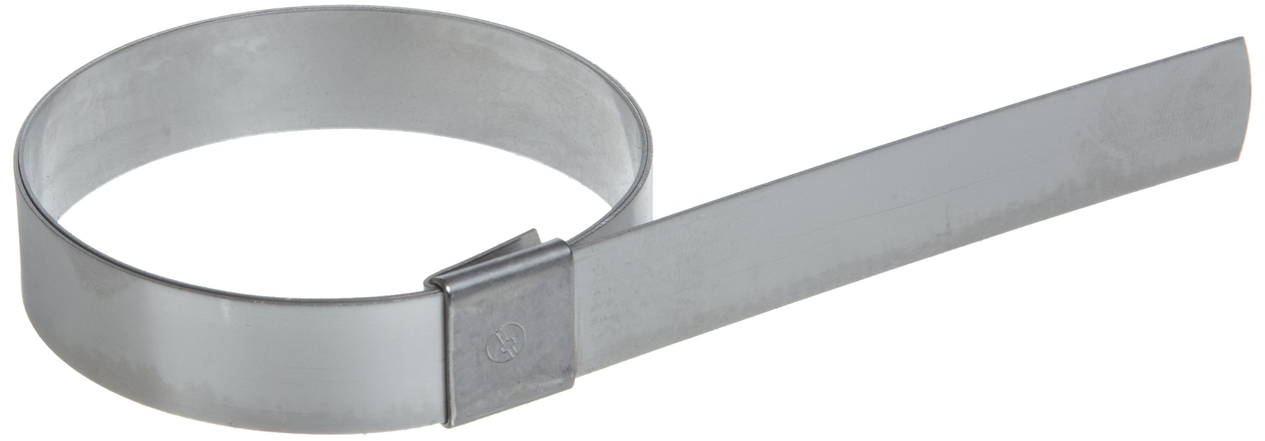 BAND-IT CP6S99 5/8'' Wide x 0.025'' Thick 1-1/2'' Diameter, 201 Stainless Steel Center Punch Clamp (100 Per Box)