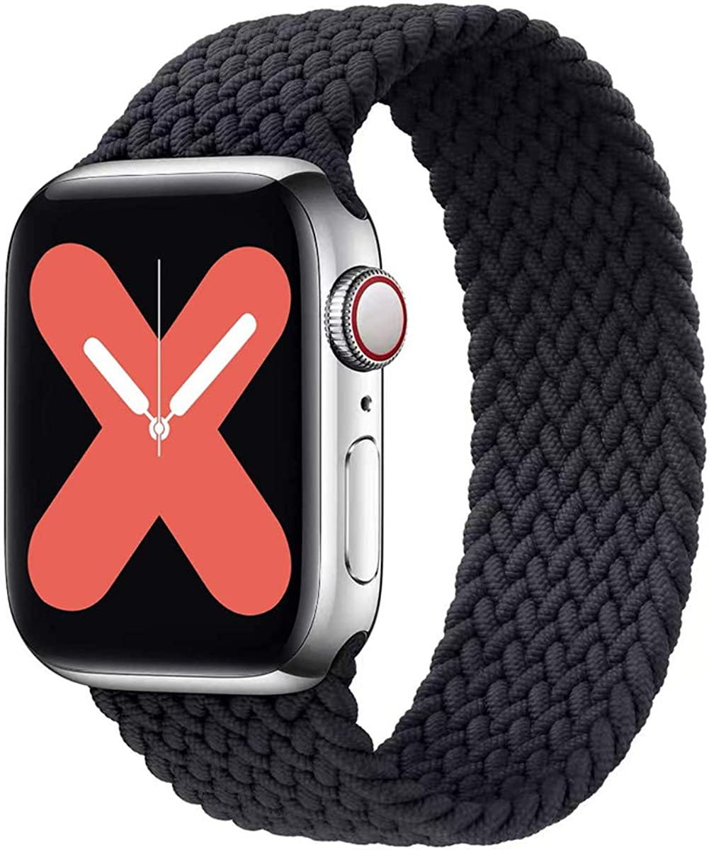 SPORTS WATCH BANDS Stretchy Solo Loop Strap Compatible with Apple Watch Bands 38mm 40mm 42mm 44mm ,Adjustable Stretch Braided Sport Elastics Nylon Women Men Wristband Compatible with iWatch Series 6/5/4/3/2/1 SE
