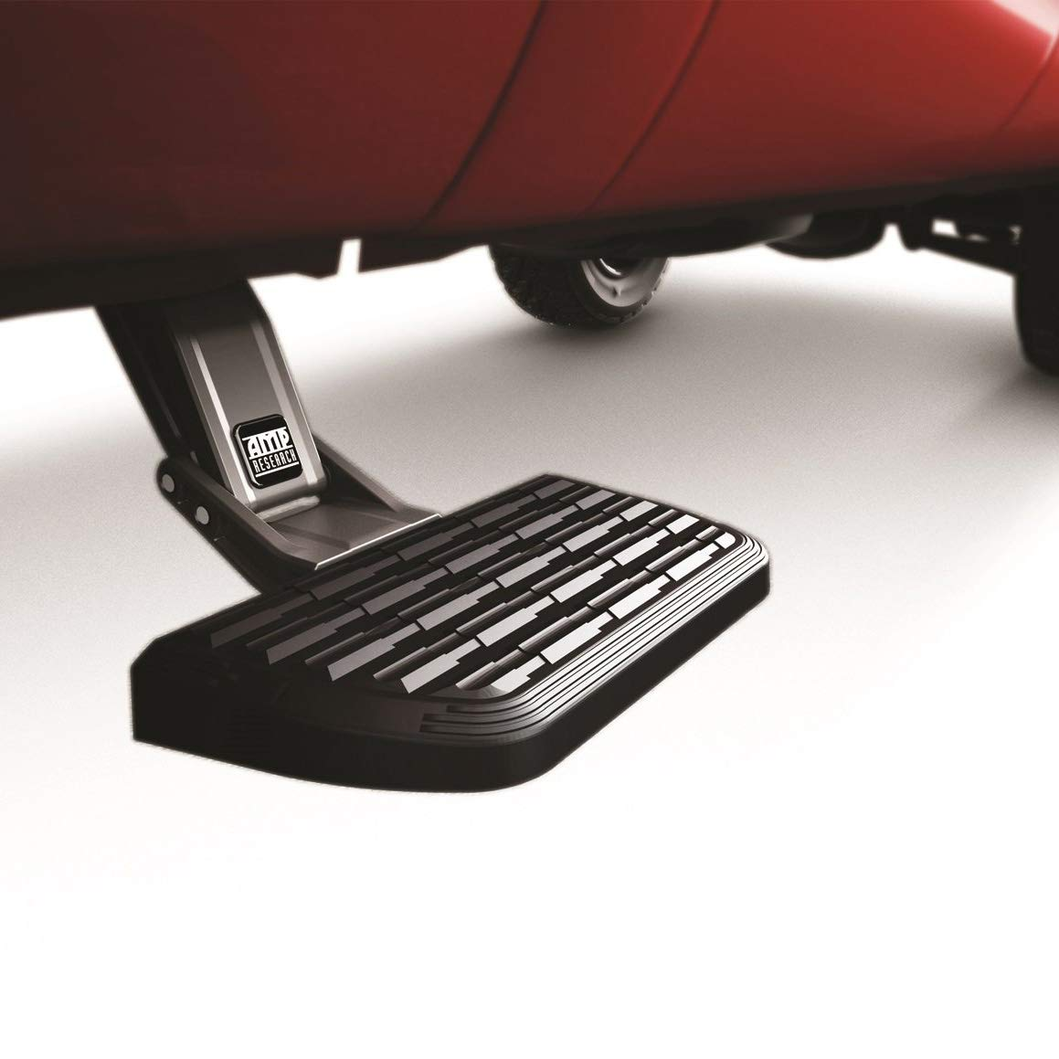 AMP Research 75402-01A BedStep2 Retractable Truck Bed Side Step for 2009-2014 Ford F-150 & Raptor (All Beds),Black,Large