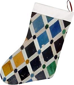 Tamengi Christmas Stockings, The Alhambra Andalusia Spain Xmas Stockings,Christmas Party Favors Stockings for Xmas Holiday Home Decorations