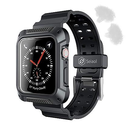 Amazon.com: Seiaol - Funda para Apple Watch Serie 4 ...
