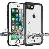 強化版 iPhone7/8 防水ケース IP68規格 完全防水 指紋認証 顔認証 水中撮影 高質感保護ケース 海水浴 潜水 お風呂 水泳 砂浜 水遊びなど適用 (i7)