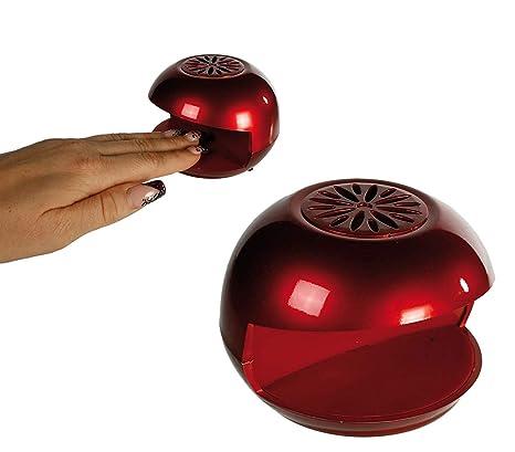 GLOW Mini secador de uñas – Ligero y portátil rojo a pilas compacto de viaje barniz