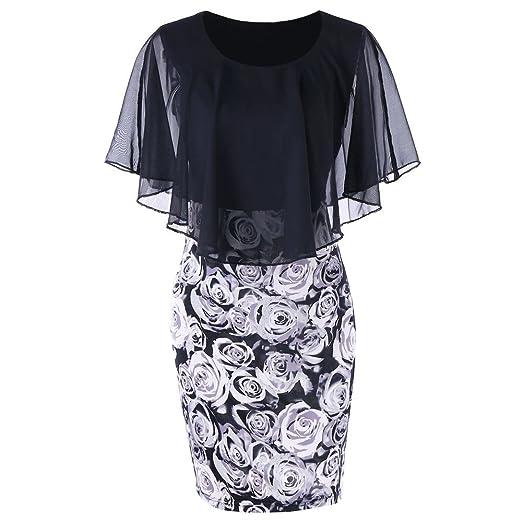 Amazon.com: Chiffon Mini Dresses for Women Party Wedding Casual ...