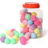 Cusfull 60 Pcs Pelotas de Ping Pong Surtidos, 40 mm Tenis de Mesa de Colores Plástico para Lotería, Juegos Divertidos