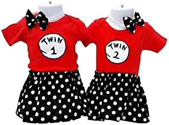 Amazon.com: Perfect Pairz Twin Girls Outfits Designed for