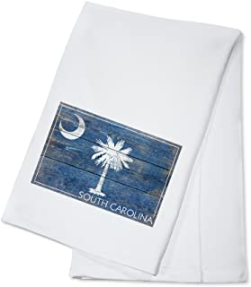 product image for Rustic South Carolina State Flag (100% Cotton Kitchen Towel)