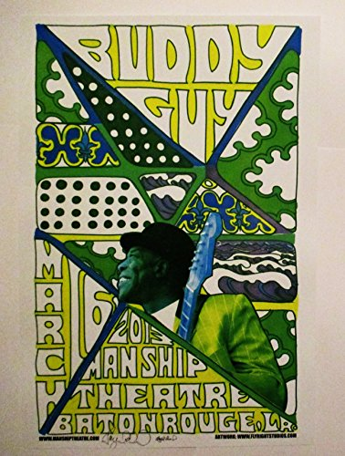2013 Buddy Guy Baton Rouge Concert Poster Autographed by Artist