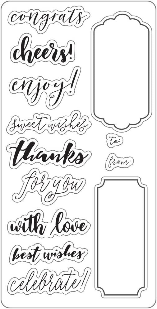 Fiskars 127600-1001 Lia Griffith 8X8 Inch Clear Stamps Teal Green//White Wedding Day