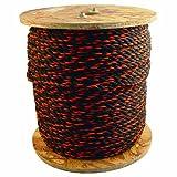 Bon 84-495 100-Feet 1/2-Inch Diameter Polypropylene Truck Rope, Black/Orange