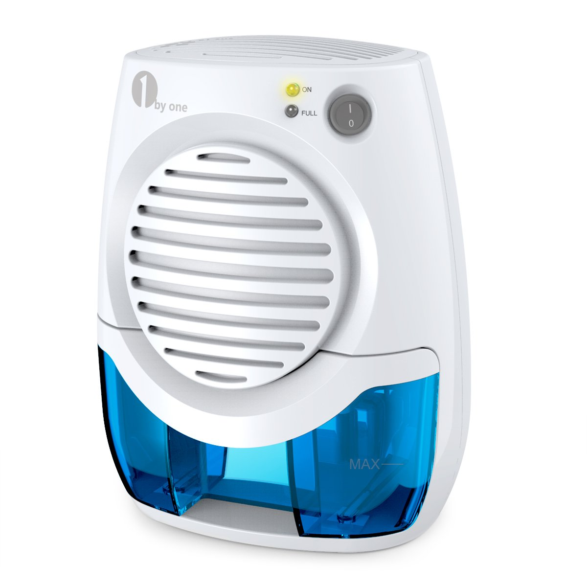 1byone 400ml Electric Mini Dehumidifier, Compact and Portable for Damp Air, Mold, Moisture in Home, Kitchen, Bedroom, Basement, Caravan, Office, Garage - Auto Shut Off by 1byone