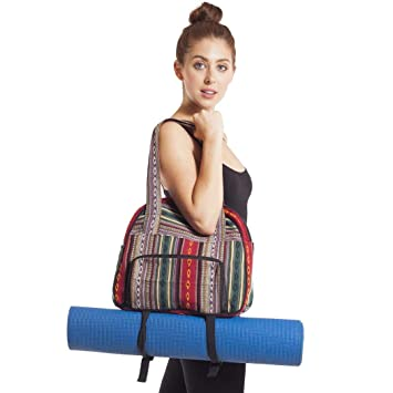 d57796d8944e Amazon.com  Green Gym Bag Yoga Mat Holder