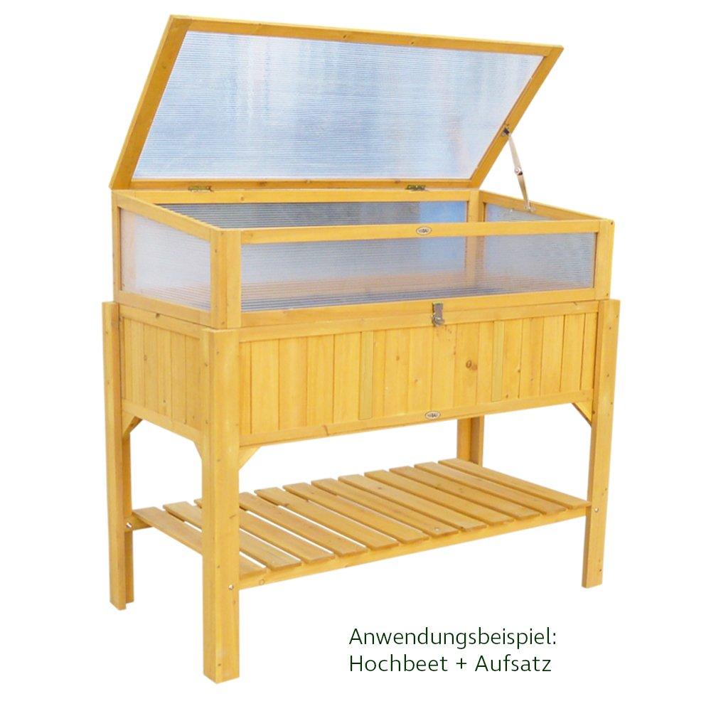 Habau 2854 Hochbeet Mit Ablage 119 X 57 X 90 Cm Amazon De Garten