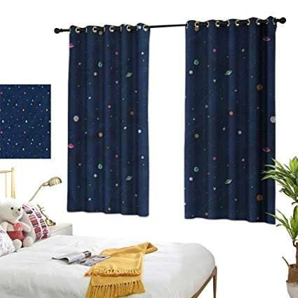 Amazon.com: Double Curtain Rod Star,Cartoon Celestial ...