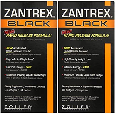 Basic Research Zantrex Black Softgels, 84 Count - 2 Pack