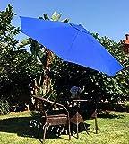 "BELLRINO DECOR ""ROYAL BLUE ""Market Aluminum Patio Umbrella 9 Ft with Tilt and Crank,8 Ribs For Sale"