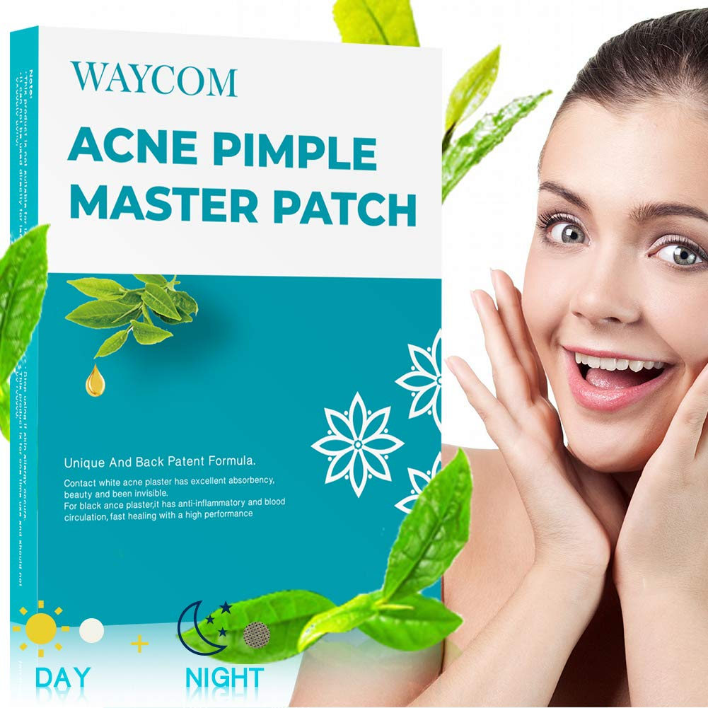 WAYCOM Acne Pimple Master Patch-63 Count,Acne Patch Covers -White and Black Combination Hydrocolloid Acne Pimple Tea Tree Oil Anti-inflammatory Sterilization Fast Healing Drug-Free Breathable by WAYCOM