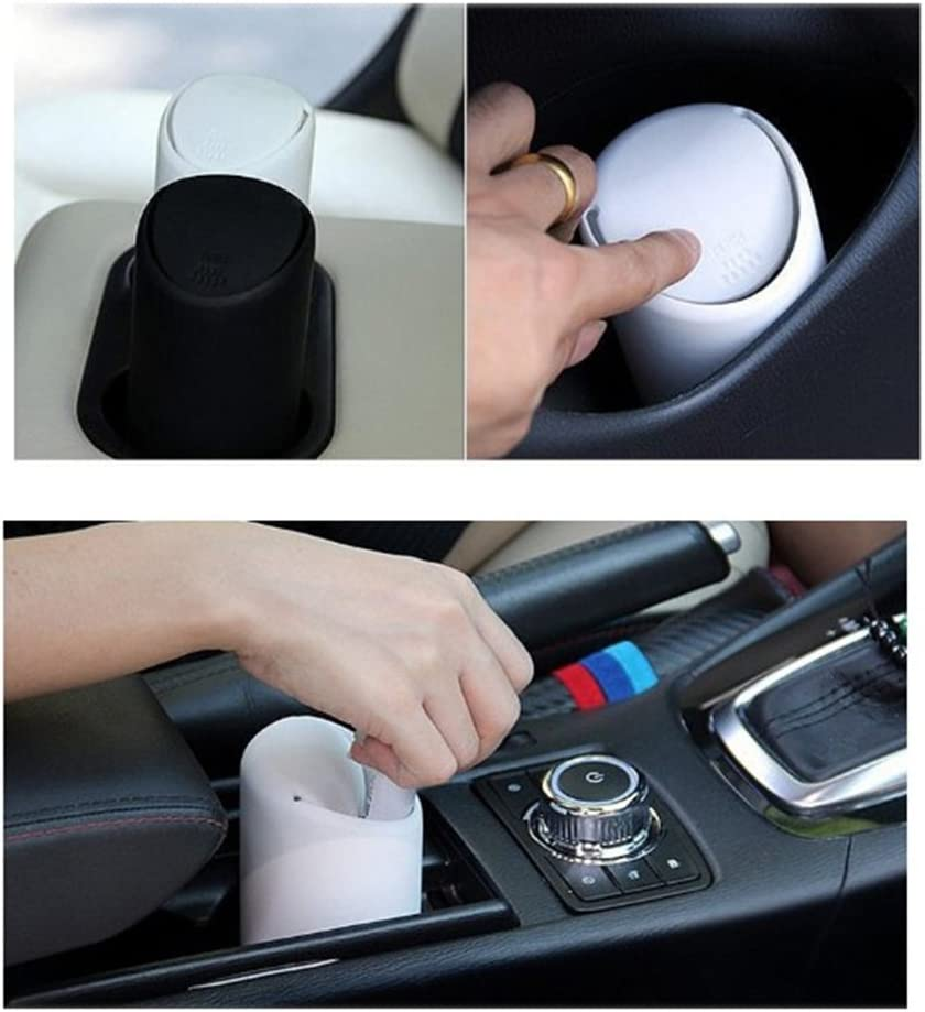WINOMO Car Trash Can with Lid Silicone Garbage Dust Bin Storage Barrel Fits Cup Holder