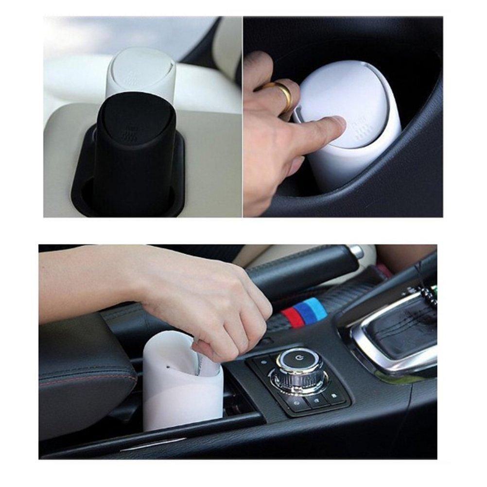 /Cubo de basura con tapa Caja mesa Cubo de basura para coche OFICINA PKW LKW Negro vorcool Auto/