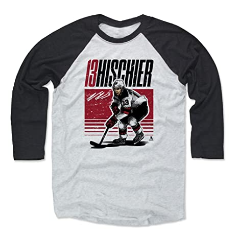 low priced bcfed 3b106 Amazon.com : 500 LEVEL Nico Hischier Shirt - New Jersey ...