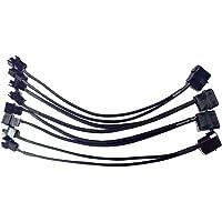 YLX 4 Broches IDE Molex Vers Câble d'alimentation pour séparateur de Ventilateur de Répartiteur 3 broches / 4 broches(4pcs)
