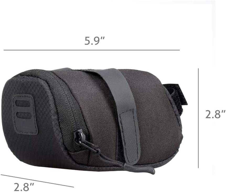 Tail Lights Can Be Hung Outside Bike Saddle Bag Bicycle Lower Seat Storage Bag Strap-On Cycling Bag for Mountain Road Bikes Keys Can Be Hung Inside