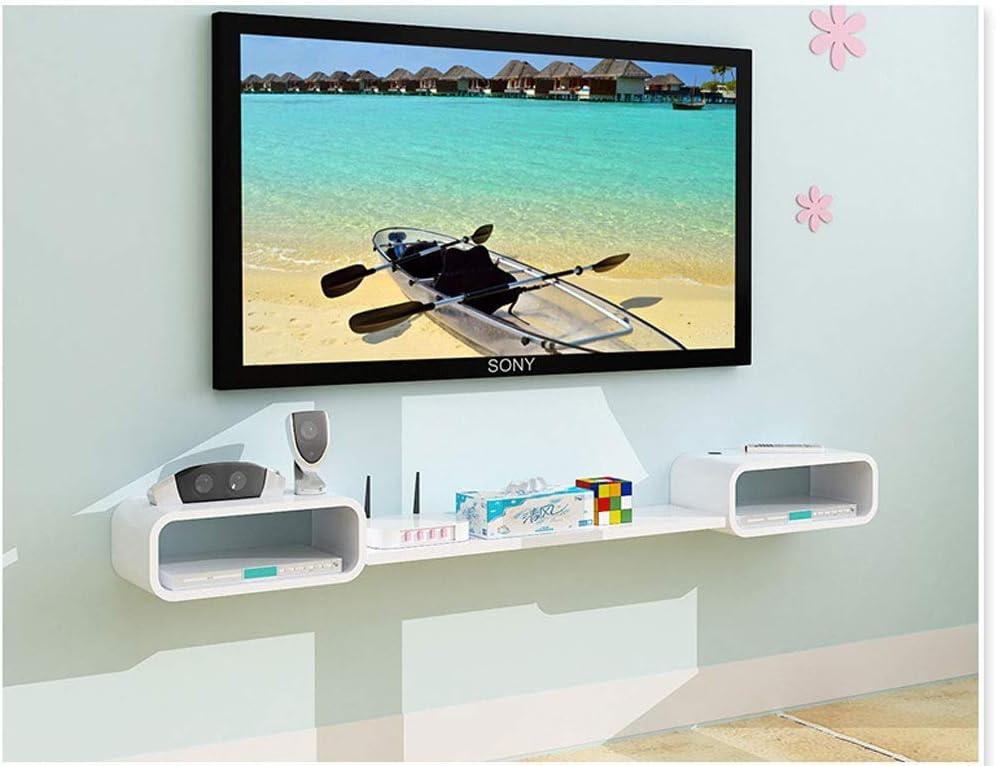 Rack multiusos de alta gama Leqi Hermosa decoración Estilo japonés Sala de estar Estante de pared simple Práctico Colgador de pared Gabinete de TV Muebles de gabinete de TV estadounidense Nordic Small: