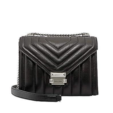 bda298c9814ed7 Michael Kors Whitney Large Quilted Leather Shoulder Bag- Black ...