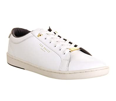 c19e0af3 Ted Baker Theeyo Sneaker White Leather - 10 UK: Amazon.co.uk: Shoes ...