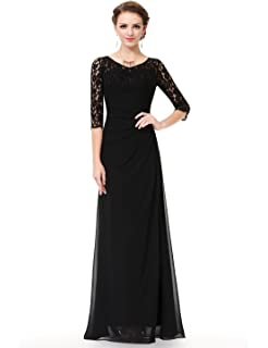 f9ba27683f25 Ever Pretty Women's Elegant V-Neck Long Sleeve Evening Party Dress ...