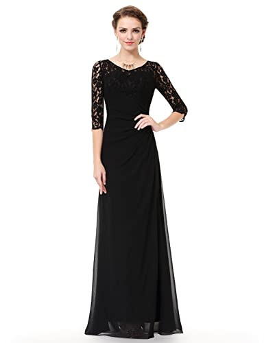 Ever Pretty Women's Lace Long Sleeve Floor Length Evening Gown 08861