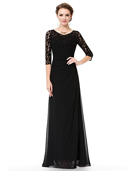 ab743424ad55 Ever-Pretty Women s Lace Long Sleeve Floor Length Evening Gown 08861 at  Amazon Women s Clothing store