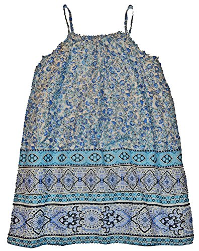 Gap Kids Girls Blue Floral Print Spaghetti Dress Medium 8