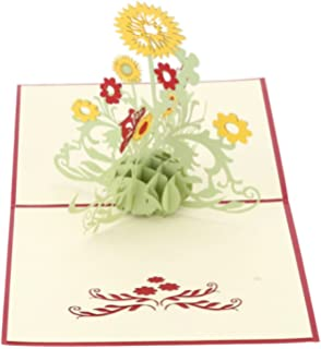 Amazon id birthday cards papercraft pop up 3d greeting cards cocostore 3d pop up greeting cards sunflower birthday mother day thank you christmas m4hsunfo